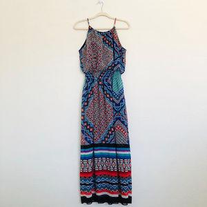 ENFOCUS Mixed Print Maxi Dress Size 14P